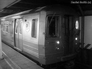 W Train At 57th Street