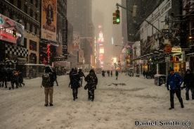 Blizzard In Times Square