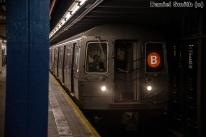 B Train Approaches 110th Street