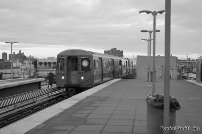 B Train At Coney Island