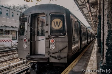 W Train at 86th Street