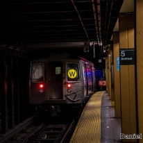 W Train Departs 5th Avenue-59th Street