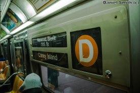 Westinghouse R68 (D) Train Interior Rollsign