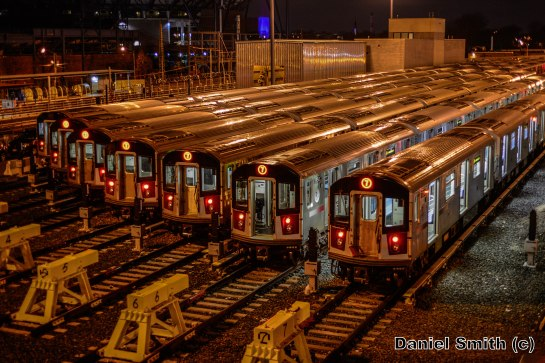 New Technology 7 Trains At Corona Yard