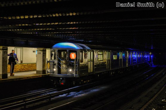 1 Train Approaches 103rd Street