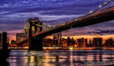 Evening at Brooklyn Bridge