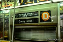 D Train Interior Rollsign