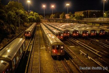 B Trains At Concourse Yard