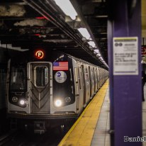 F Train Approaching 42nd Street-Port Authority