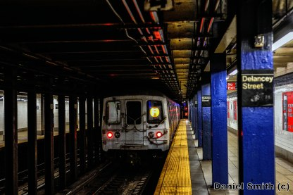 F Train Leaves Delancey Street
