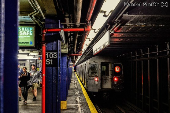 B Train Leaves 103rd Street