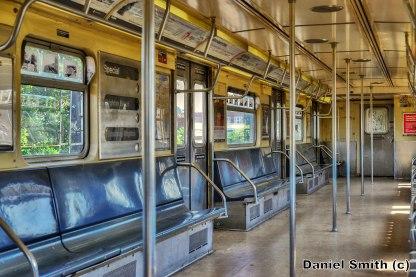 R38 Subway Car Interior