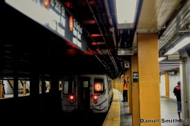 D Train Leaves 161st Street-Yankees Stadium