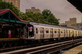 M Train Approaching Marcy Avenue