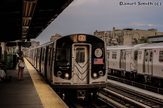 J Train Approaching Marcy Avenue