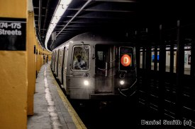 D Train Approaching 174th-175th Streets