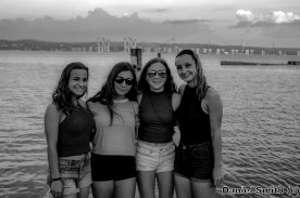 Women At South Nyack (B&W)