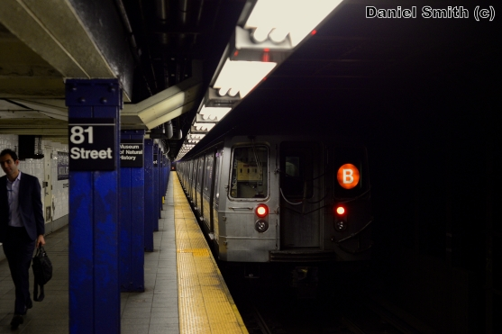 B Train Leaves 81st Street-Museum Of Natural History