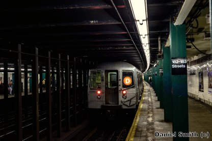 D Train Leaves 182nd-183rd Streets