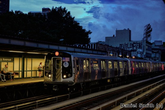 M Train At Marcy Avenue