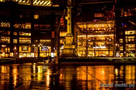 Rainy Columbus Circle