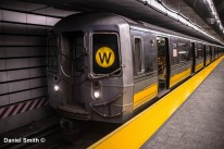 W Train At 96th Street