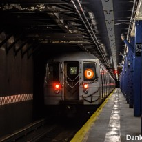 R68 (D) Train At 116th Street