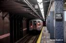 R68 (D) Train At 116th Street