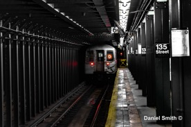 D Train At 135th Street