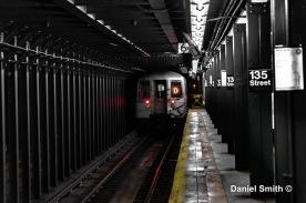 D Train At 135th Street